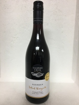 Pinot Noir: Coopers Creek Razorback Central Otago Select Vineyards Pinot Noir 2018